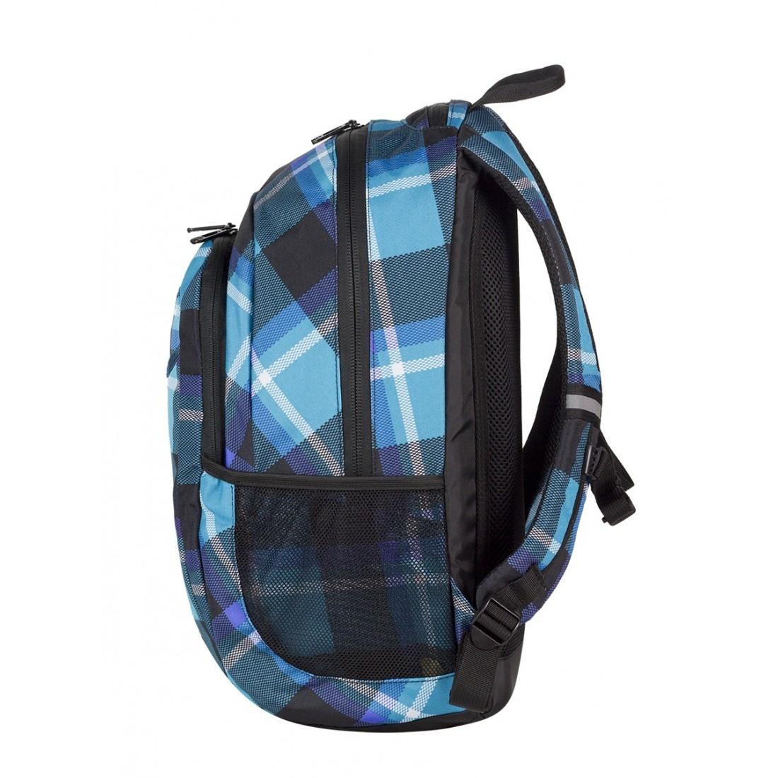 Plecak młodzieżowy CoolPack CP niebieski w kratkę URBAN SCOTT 386 - plecak-tornister.pl