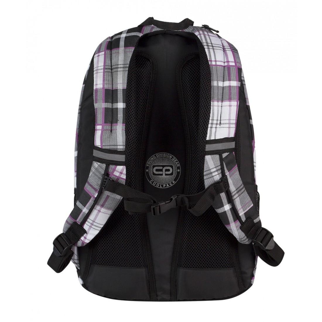 Plecak młodzieżowy CoolPack CP czarno - biały w kratkę URBAN POLO 361 - plecak-tornister.pl