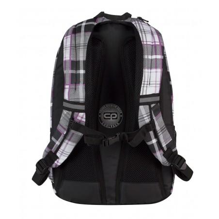 Plecak młodzieżowy CoolPack CP czarno - biały w kratkę URBAN POLO 361