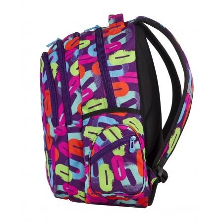 Plecak młodzieżowy CoolPack CP lekki w kolorowe zera dla dziewczynki BASIC MULTICOLOR 547