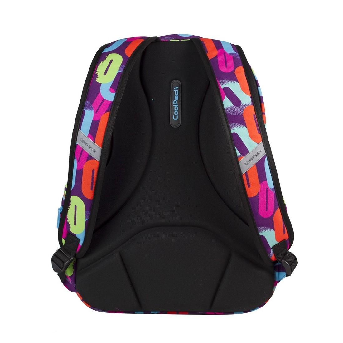 Plecak młodzieżowy CoolPack CP lekki w kolorowe zera dla dziewczynki BASIC MULTICOLOR 547 - plecak-tornister.pl