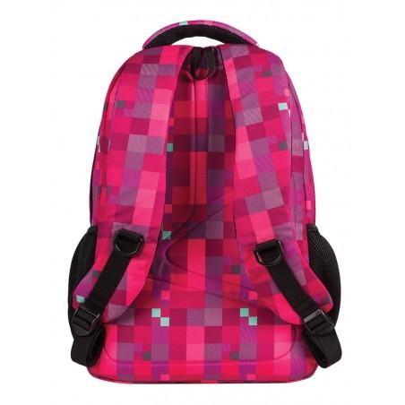Plecak młodzieżowy CoolPack CP lekki czerwony w kwadraciki BASIC RED BERRY 516