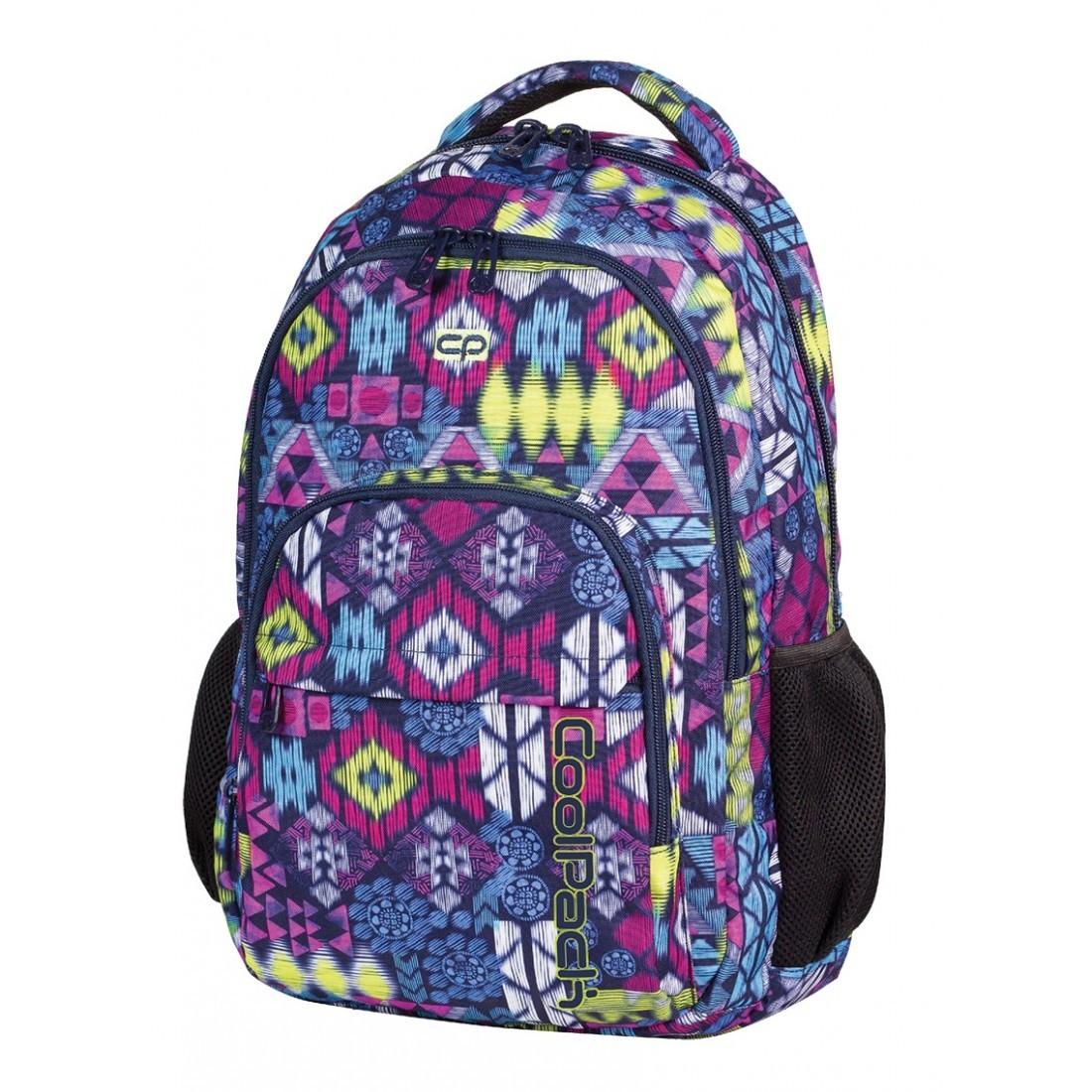 Plecak młodzieżowy CoolPack CP lekki fioletowy etniczny BASIC TRIBAL CP 511 - plecak-tornister.pl