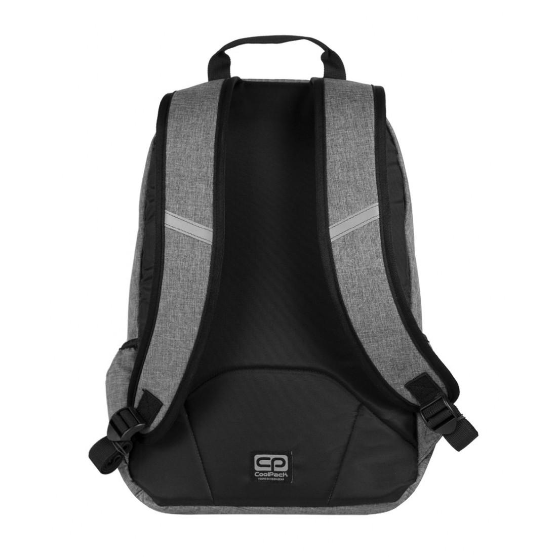 Plecak młodzieżowy na laptop CoolPack CP szary RAMBLER SNOW GREY 593 - plecak-tornister.pl
