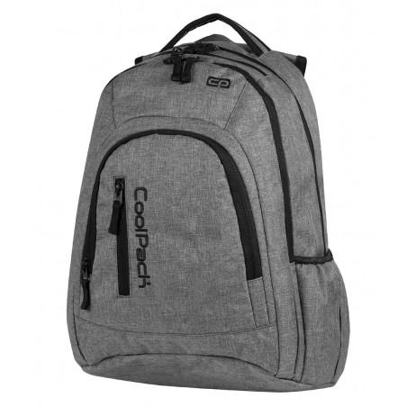Plecak młodzieżowy na laptop CoolPack CP 594 szary MERCATOR SNOW GREY