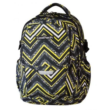 Plecak młodzieżowy CoolPack CP czarno - żółty w jodełkę - 4 przegrody FACTOR YELLOW CHEVRON 441