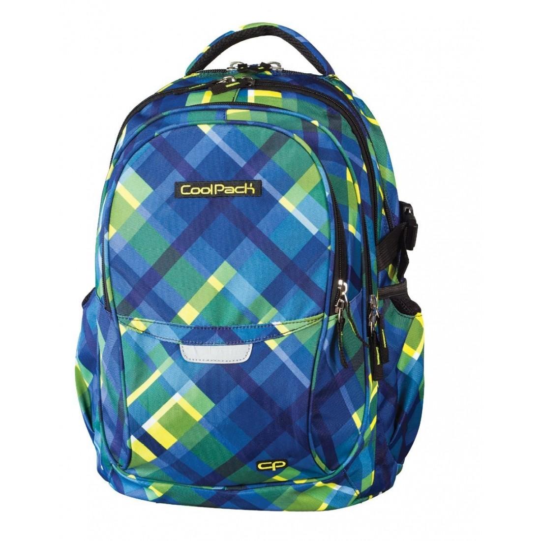 Plecak młodzieżowy CoolPack CP - 4 przegrody FACTOR AZURE CHECK 442 - plecak-tornister.pl