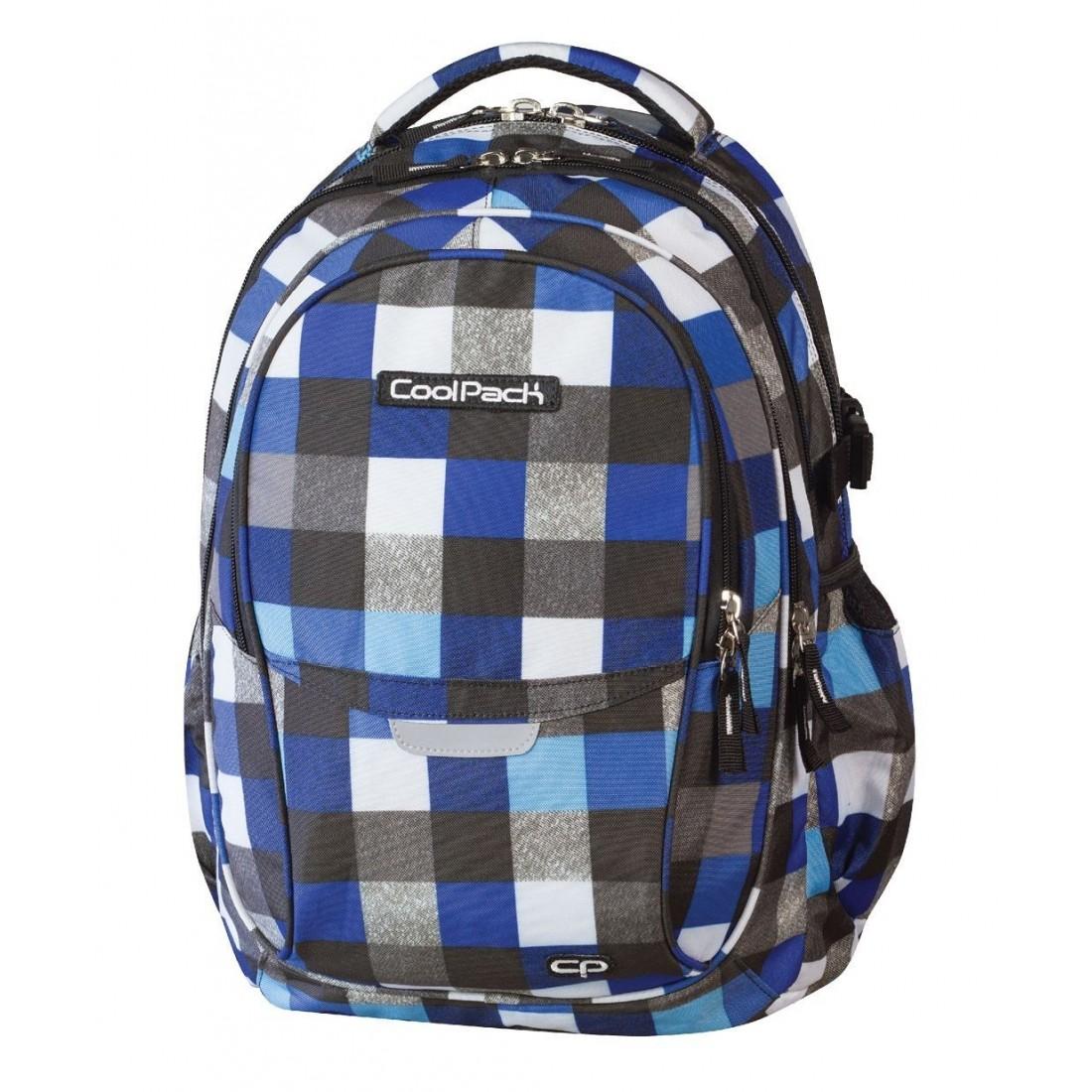 Plecak młodzieżowy CoolPack CP - 4 przegrody FACTOR BLUE SQUARED 446 - plecak-tornister.pl