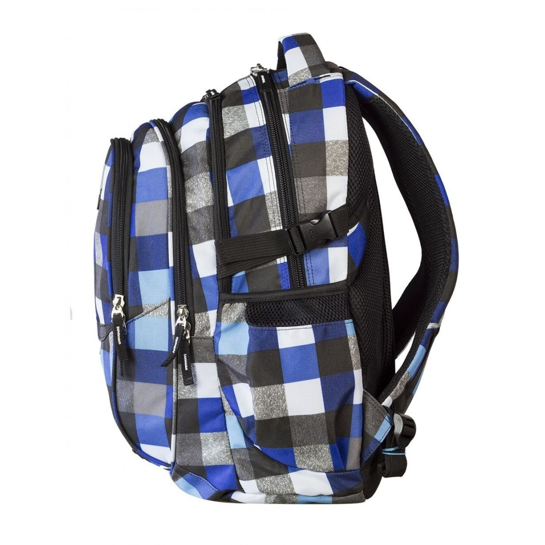 Plecak młodzieżowy CoolPack CP - 4 przegrody FACTOR BLUE SQUARED 446 - plecak-tornister.pl