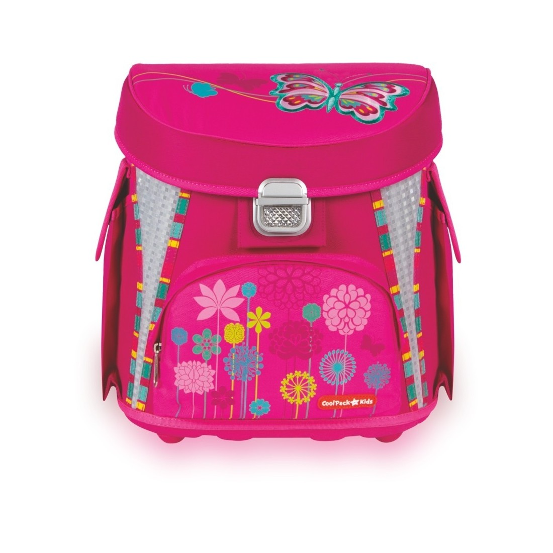 TORNISTER COOLPACK CP BUTTERFLY - RÓŻOWY Z MOTYLEM - plecak-tornister.pl