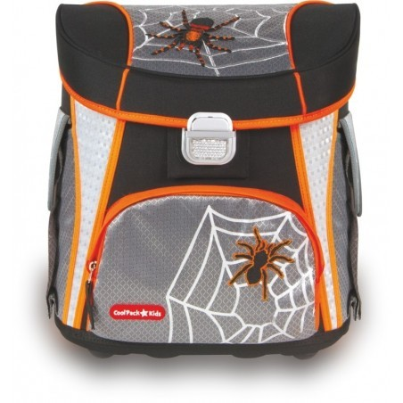 TORNISTER COOLPACK CP SPIDER - SZARY Z PAJĄKIEM