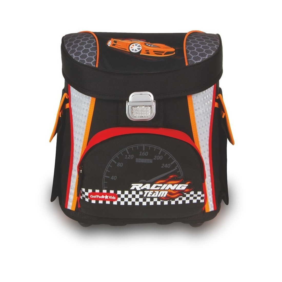 TORNISTER COOLPACK CP RACING CZARNY Z AUTEM - plecak-tornister.pl