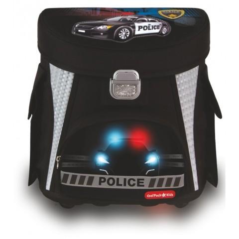 TORNISTER COOLPACK CP POLICE - CZARNY Z RADIOWOZEM