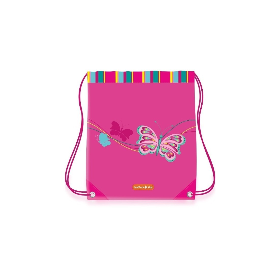 WOREK NA BUTY COOLPACK CP BUTTERFLY RÓŻOWY Z MOTYLEM - plecak-tornister.pl