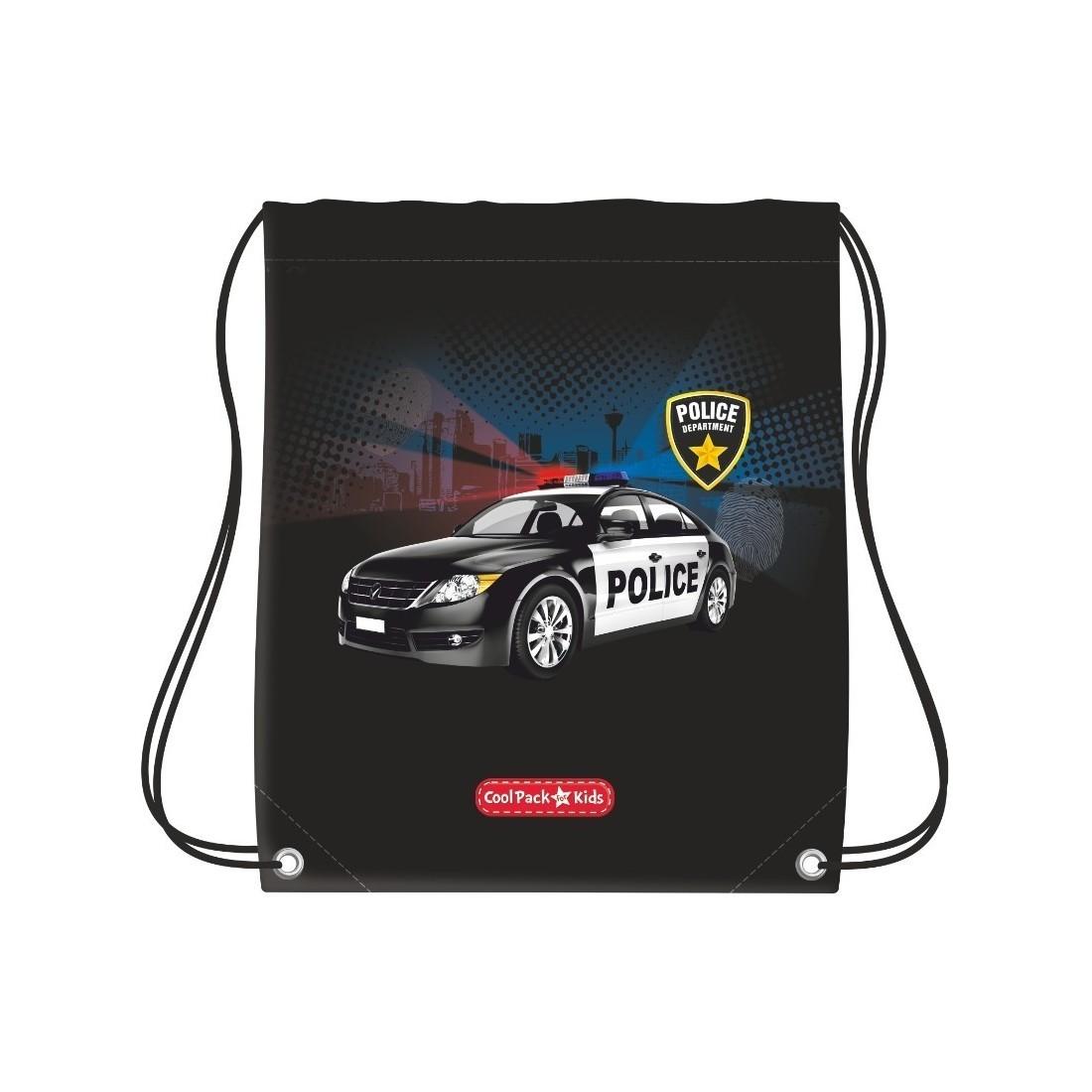 WOREK NA BUTY COOLPACK CP POLICE CZARNY Z RADIOWOZEM - plecak-tornister.pl