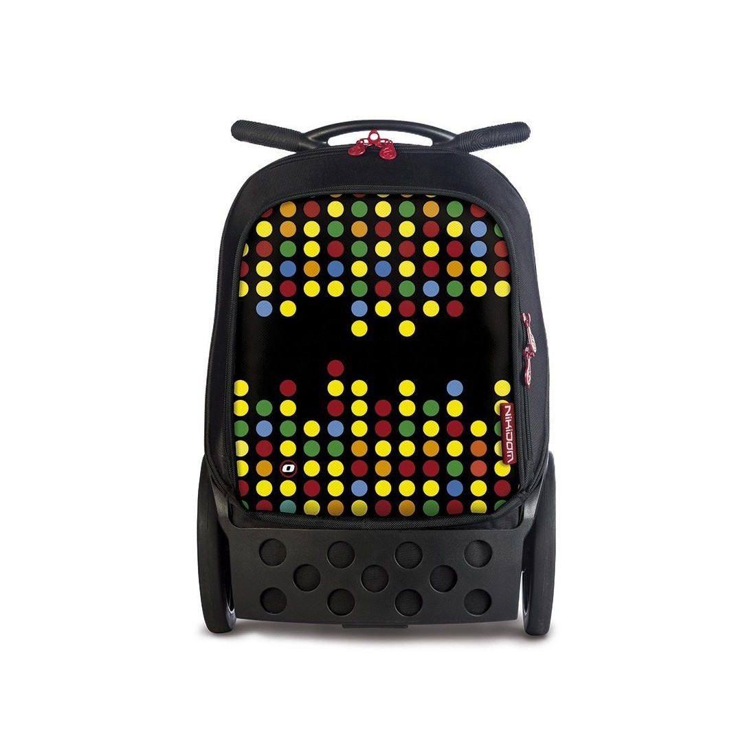 Plecak szkolny na kółkach bez szelek Roller Technodots dla dziewczyny. - plecak-tornister.pl