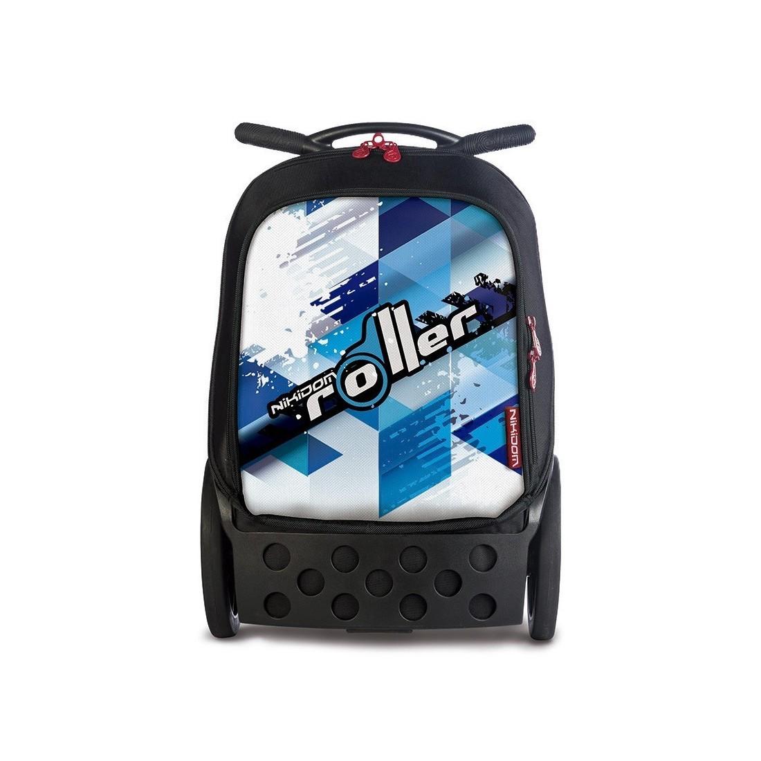 Plecak szkolny na kółkach bez szelek Roller Cool Blue dla chłopaka. - plecak-tornister.pl