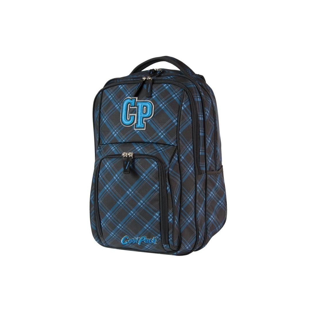 PLECAK MŁODZIEŻOWY COOLPACK SPLIT BLUE SHADOW CP 150 - plecak-tornister.pl