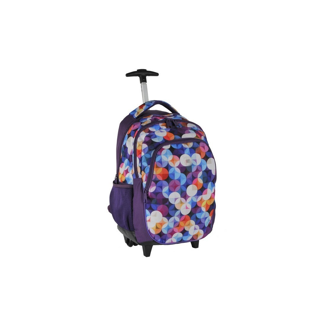 Plecak na kółkach w kolorowe kółka