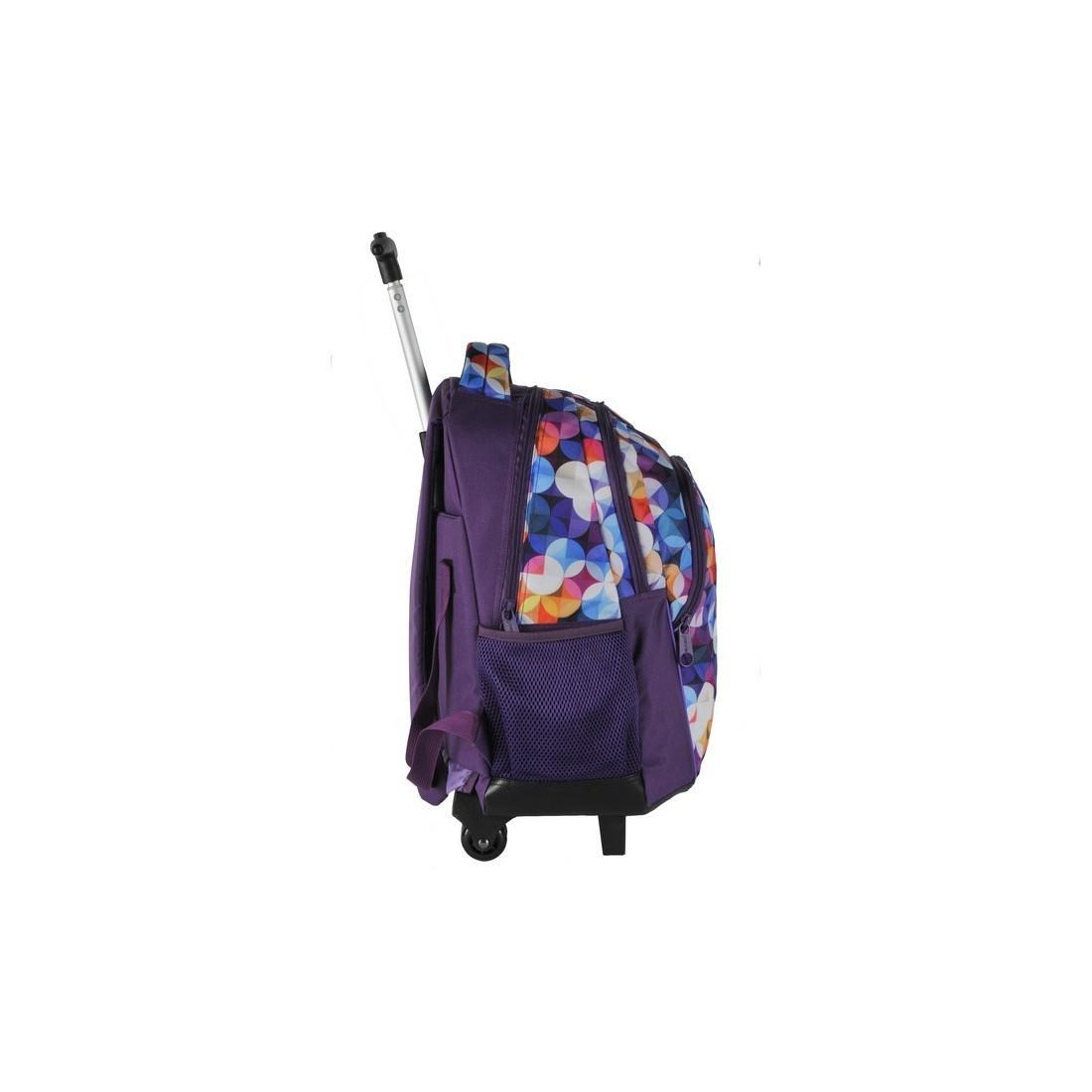 Plecak na kółkach w kolorowe kółka - plecak-tornister.pl