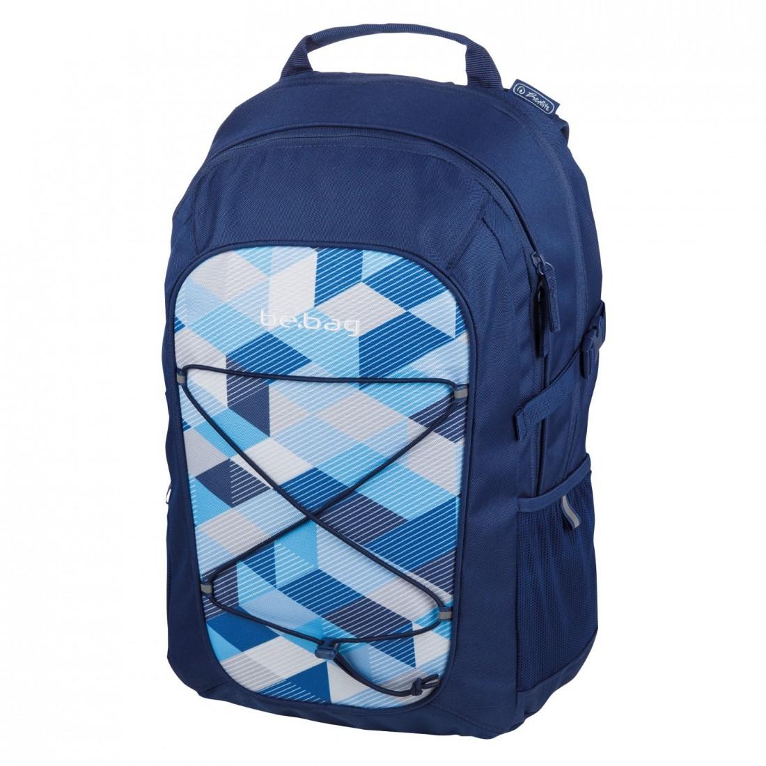PLECAK Herlitz be.bag Fellow BLUE CHECKED - plecak-tornister.pl