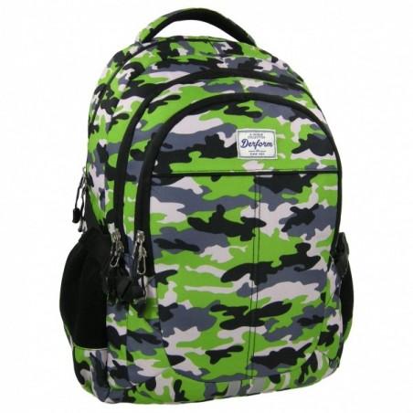Plecak młodzieżowy zielony w moro
