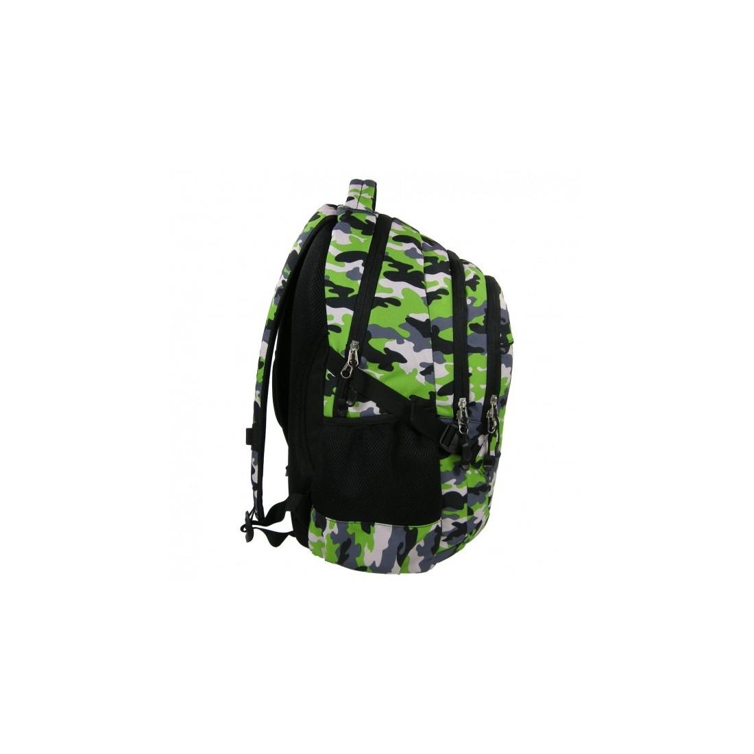 Plecak młodzieżowy zielony w moro - plecak-tornister.pl