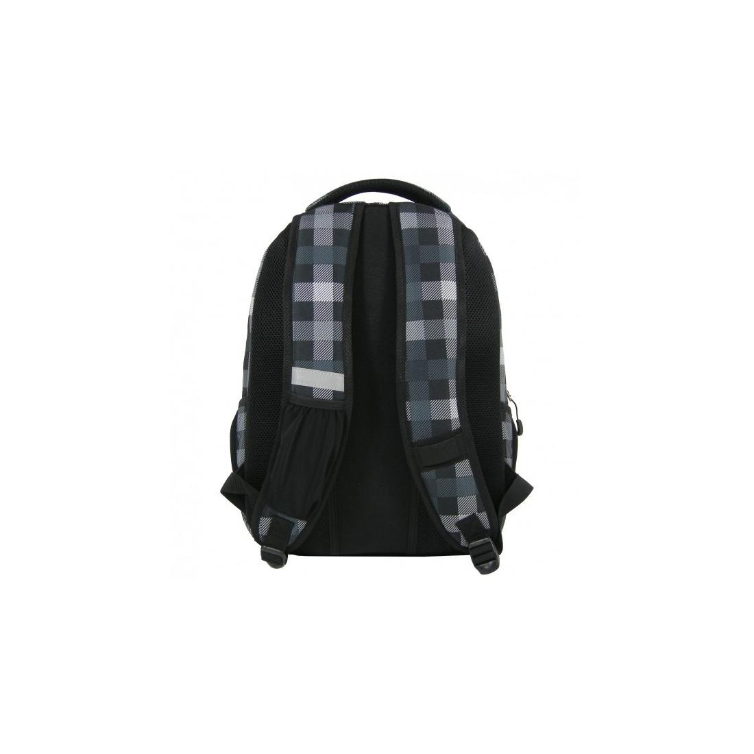 Plecak młodzieżowy w szarą kratkę - plecak-tornister.pl