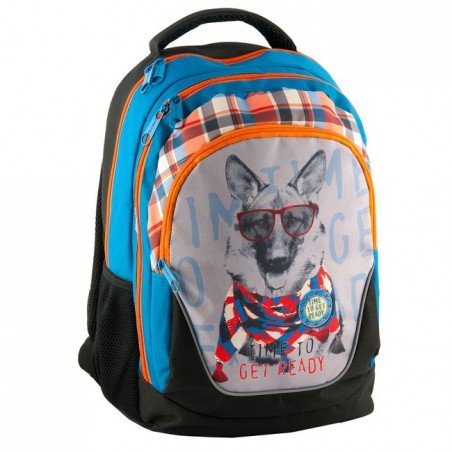 Plecak szkolny z psem w okularach
