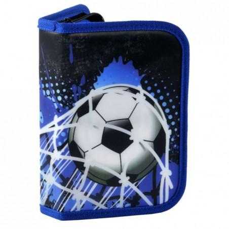 Piórnik z wyposażeniem z piłką niebieski