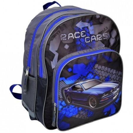 Plecak szkolny granatowy z autem Mustang