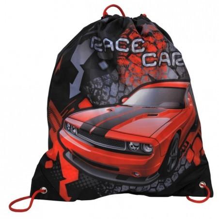 Worek na obuwie czerwony z autem Challenger