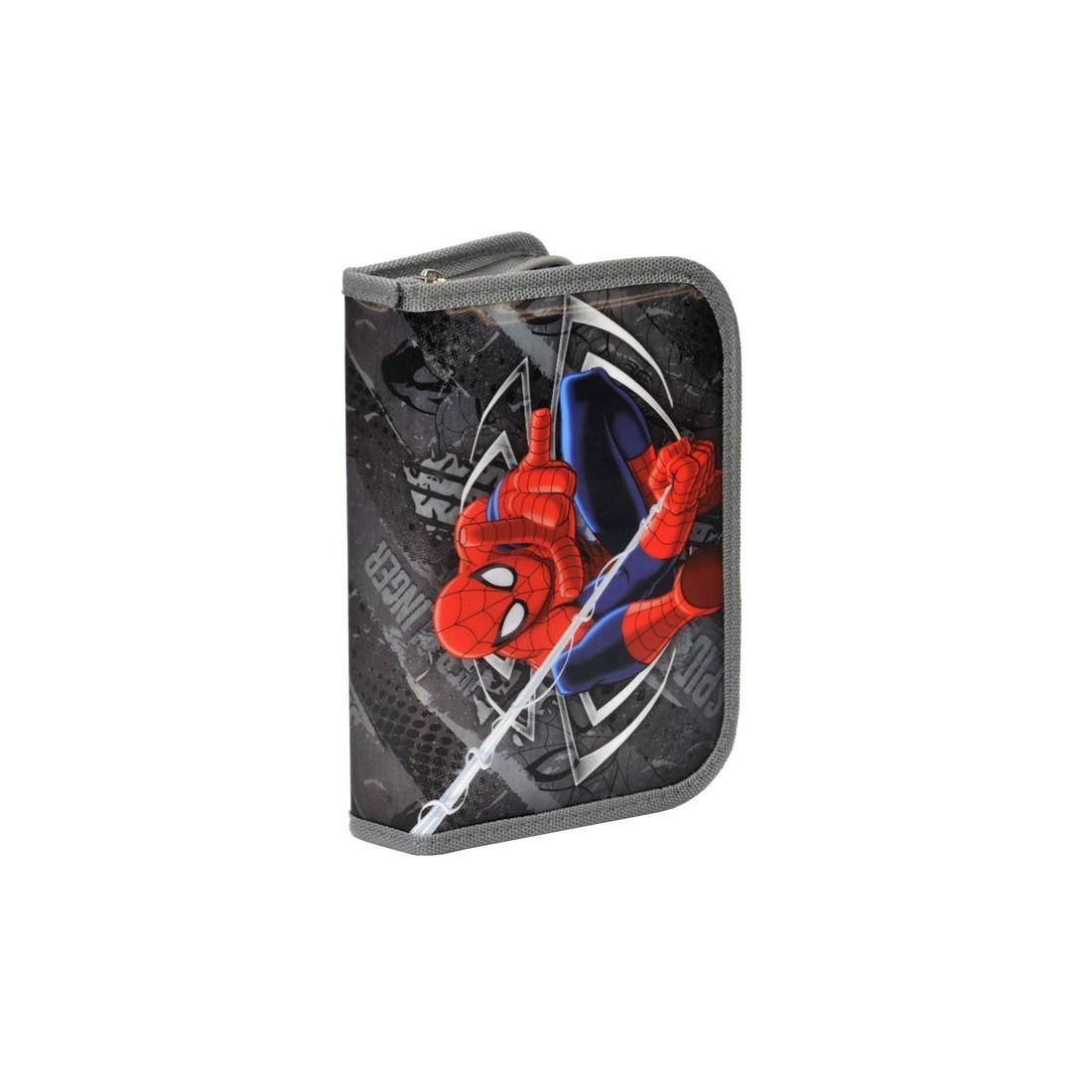 Piórnik z wyposażeniem Spider-Man szary - plecak-tornister.pl