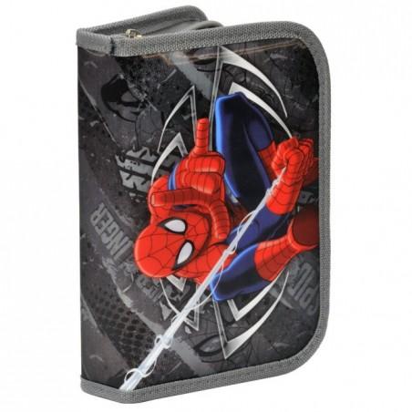 Piórnik z wyposażeniem Spider-Man szary