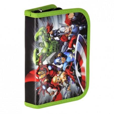 Piórnik z wyposażeniem Avengers zielony