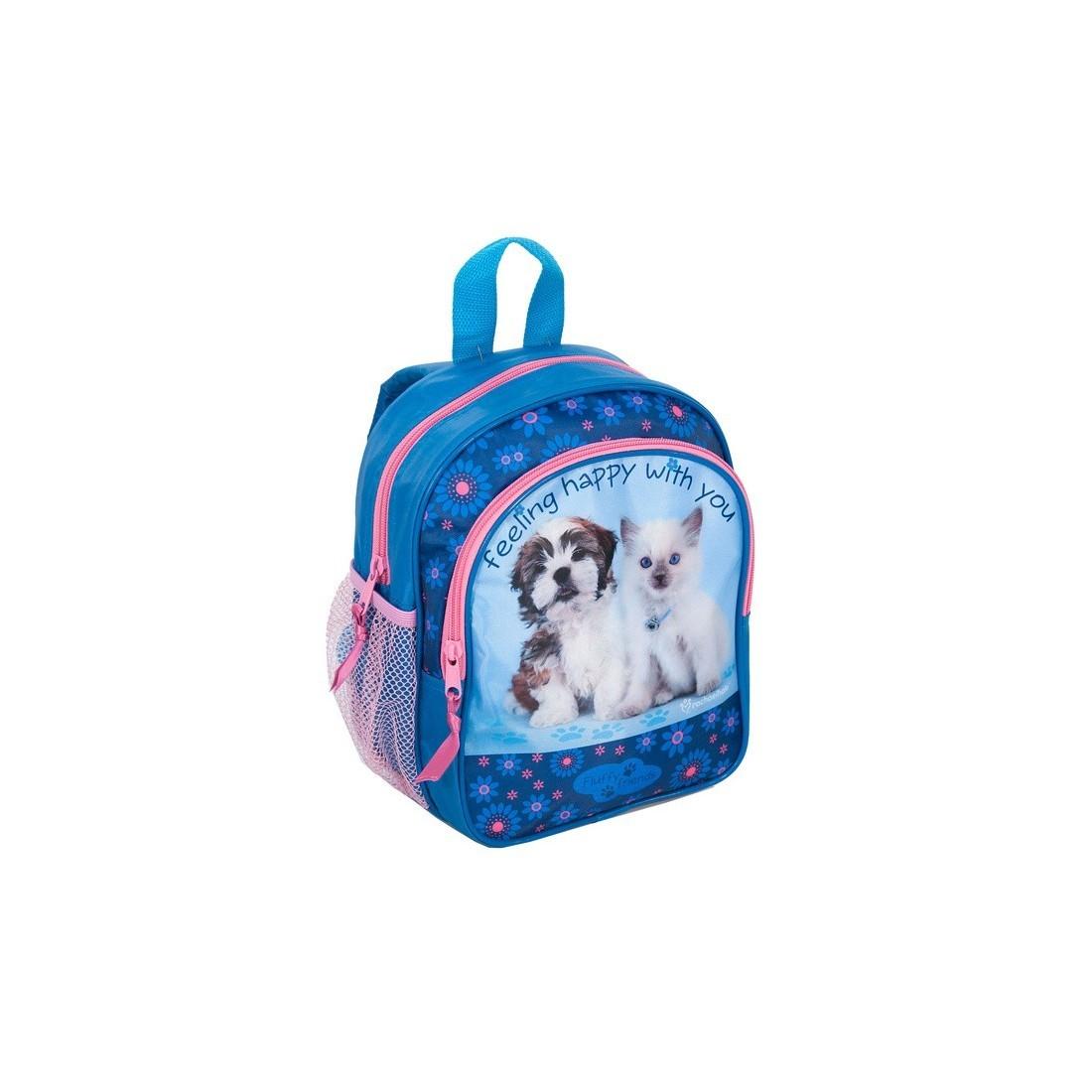 Plecaczek Rachael Hale niebieski z pieskiem i kotkiem - plecak-tornister.pl