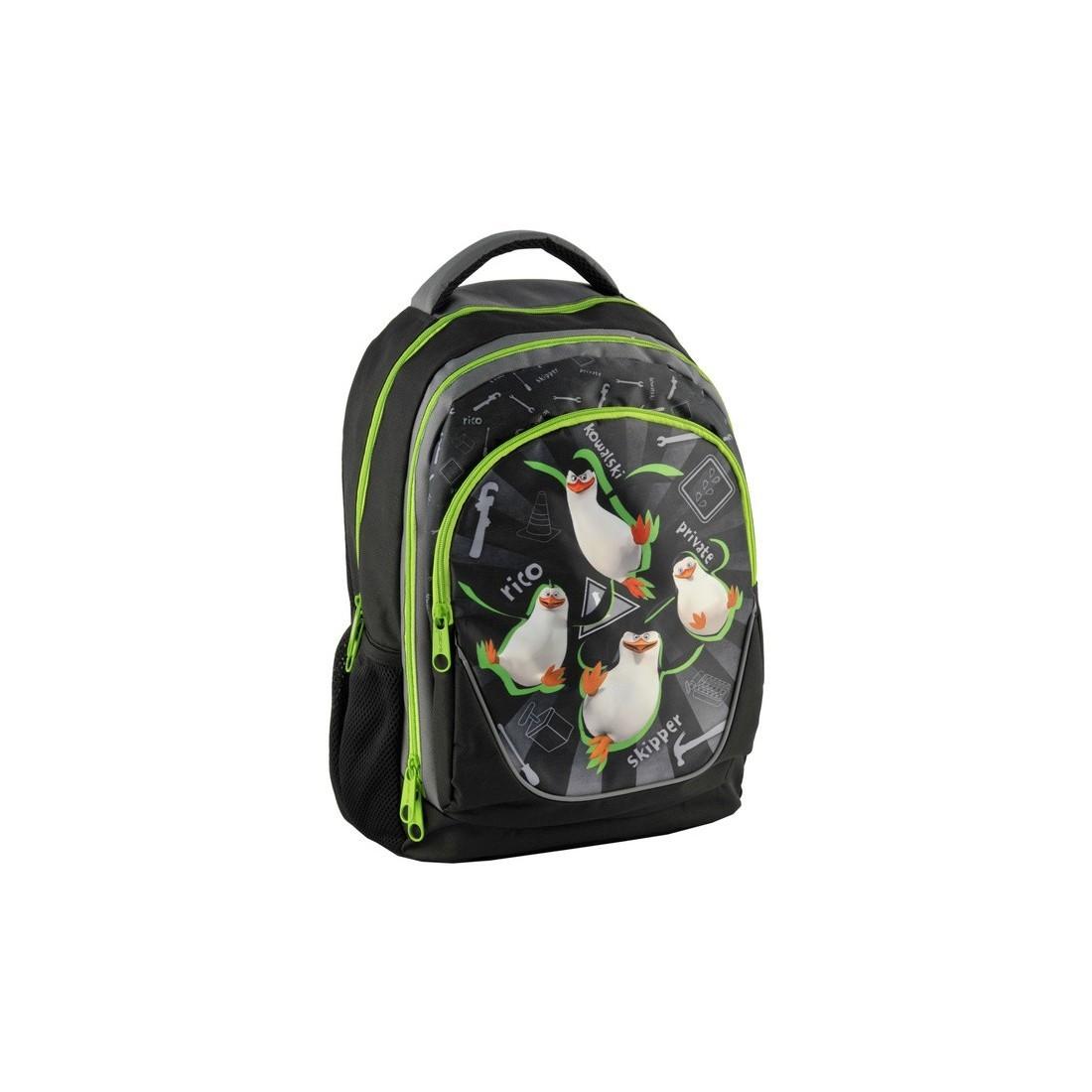 Plecak szkolny Pingwiny z Madagaskaru - plecak-tornister.pl