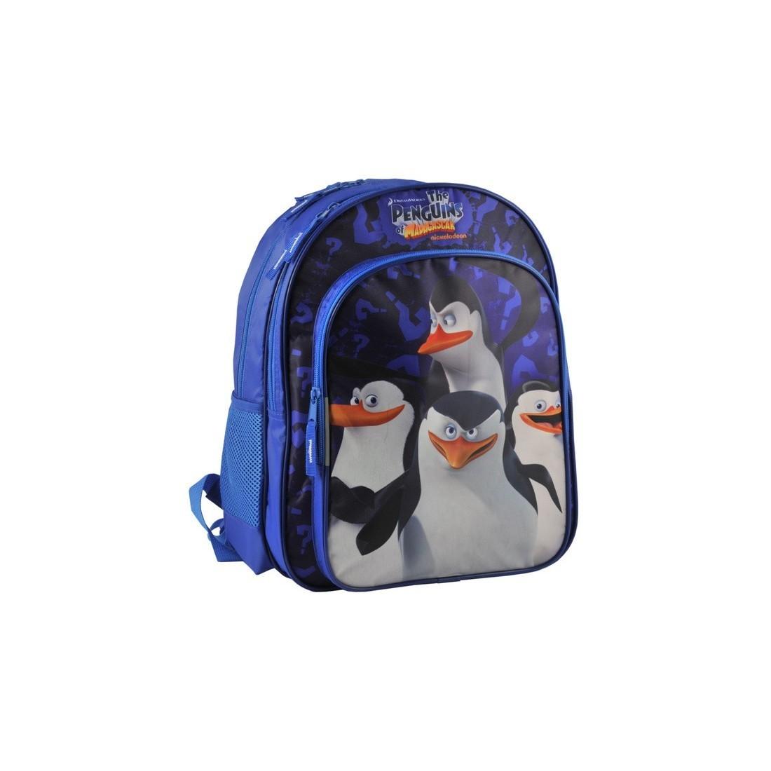 Plecak Pingwiny z Madagaskaru granatowy - plecak-tornister.pl
