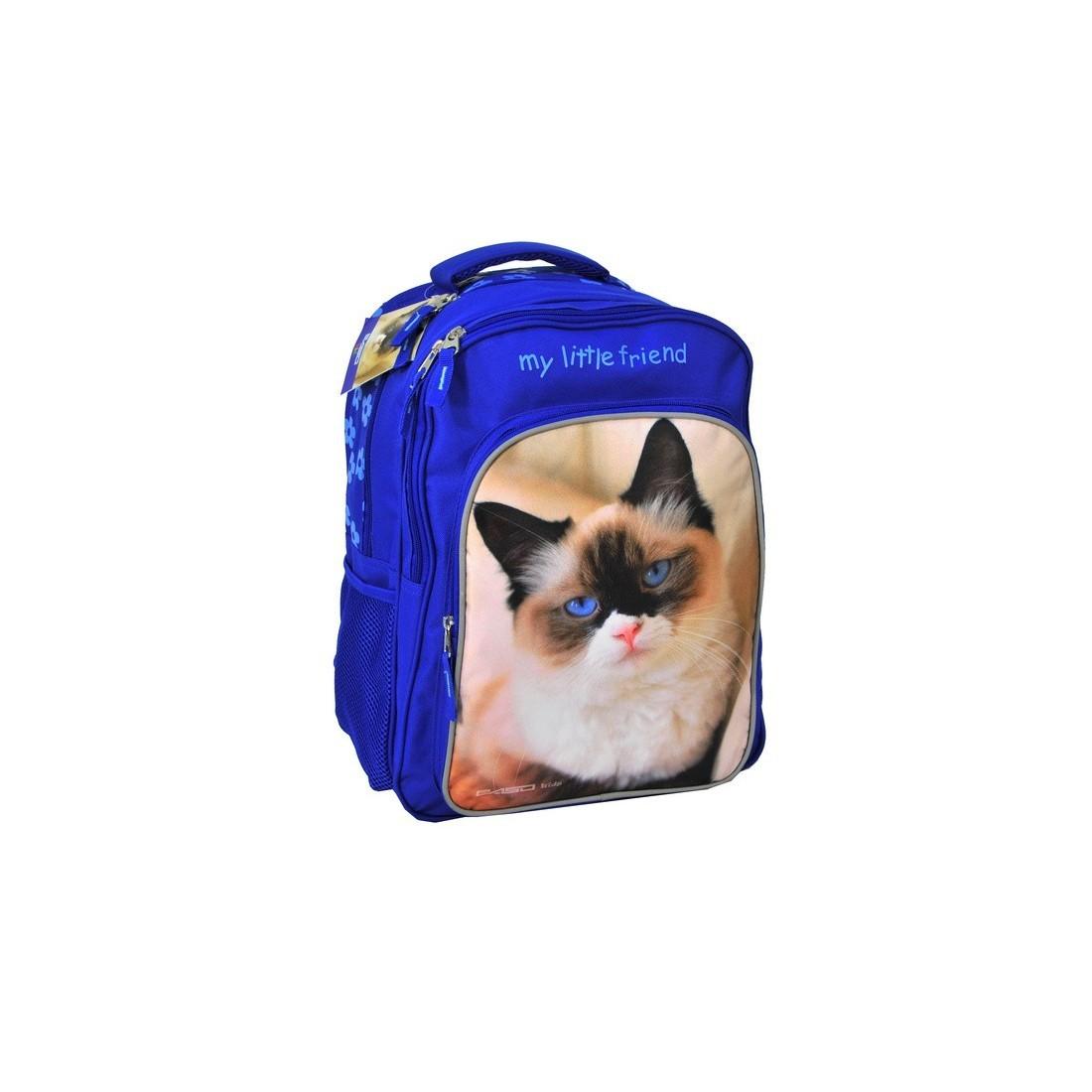 Plecak szkolny z kotkiem - plecak-tornister.pl