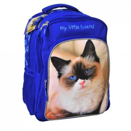 Plecak szkolny z kotkiem