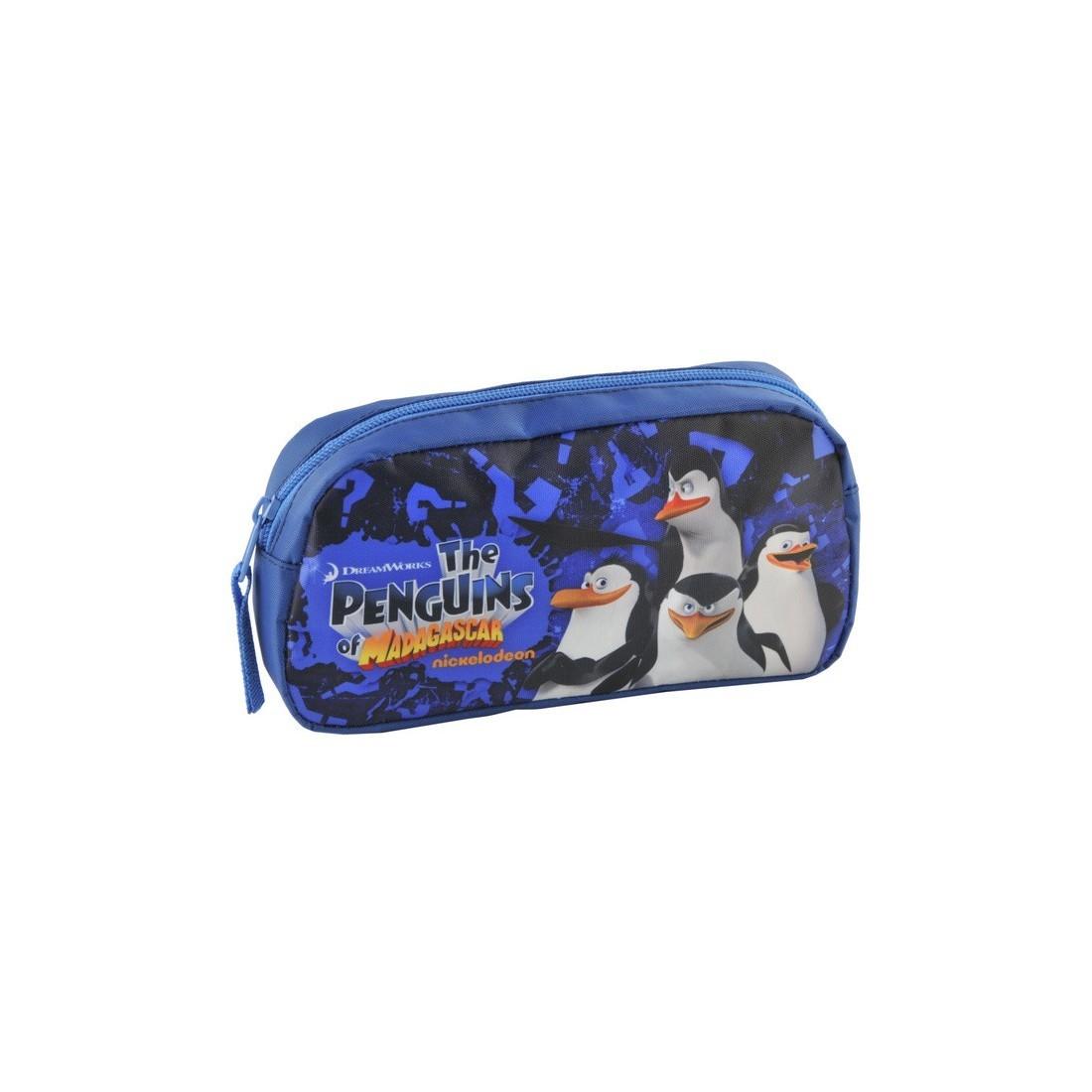 Saszetka Pingwiny z Madagaskaru granatowa - plecak-tornister.pl