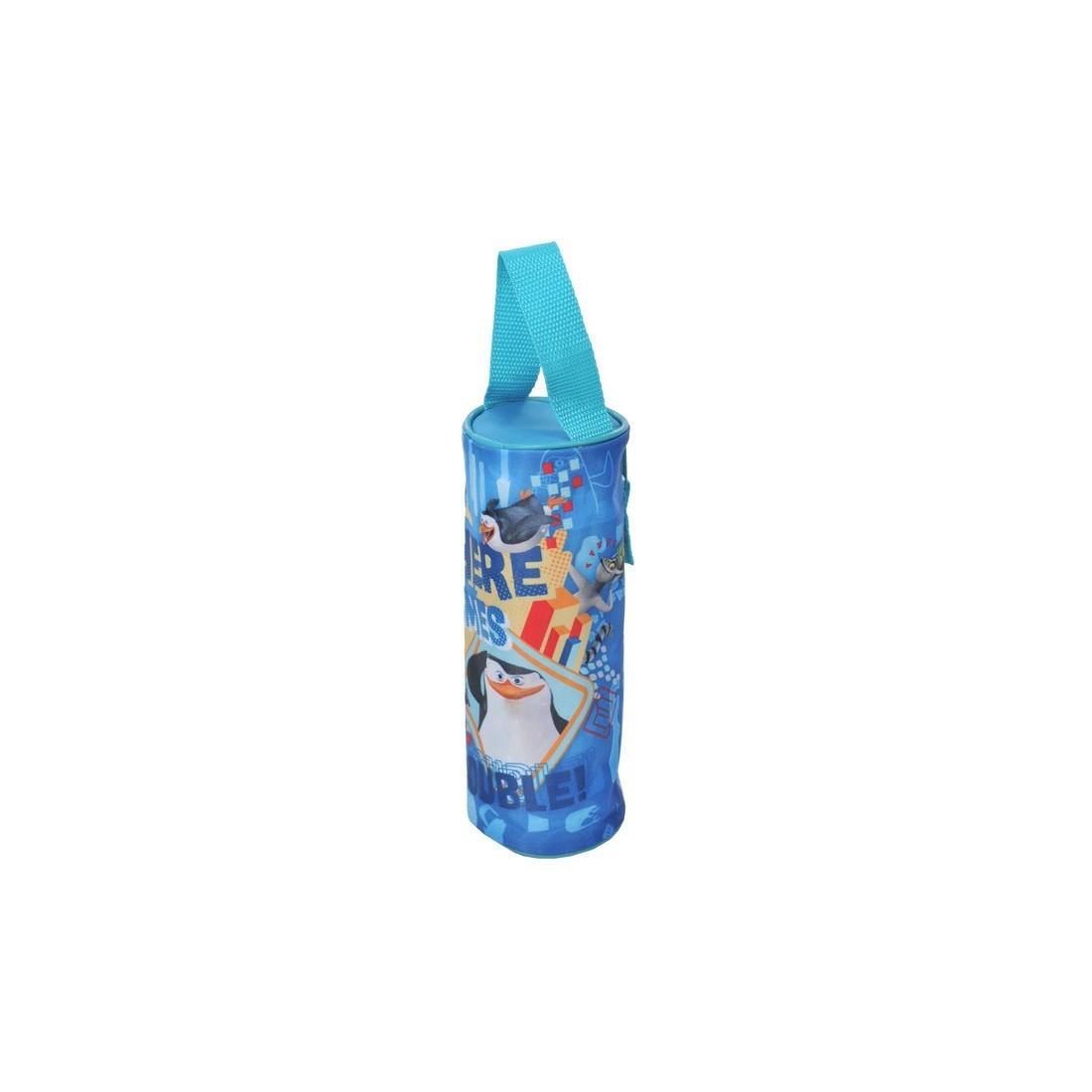 Piórnik tuba Pingwiny z Madagaskaru niebieski niebieski - plecak-tornister.pl