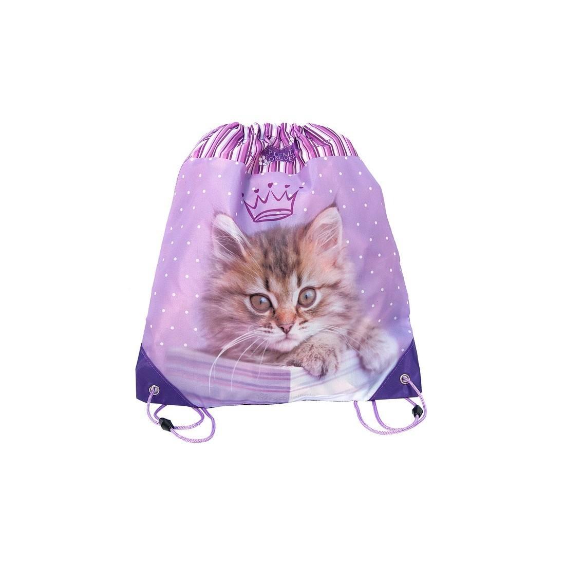 Worek Szkolny Rachael Hale z kotem różowy - plecak-tornister.pl