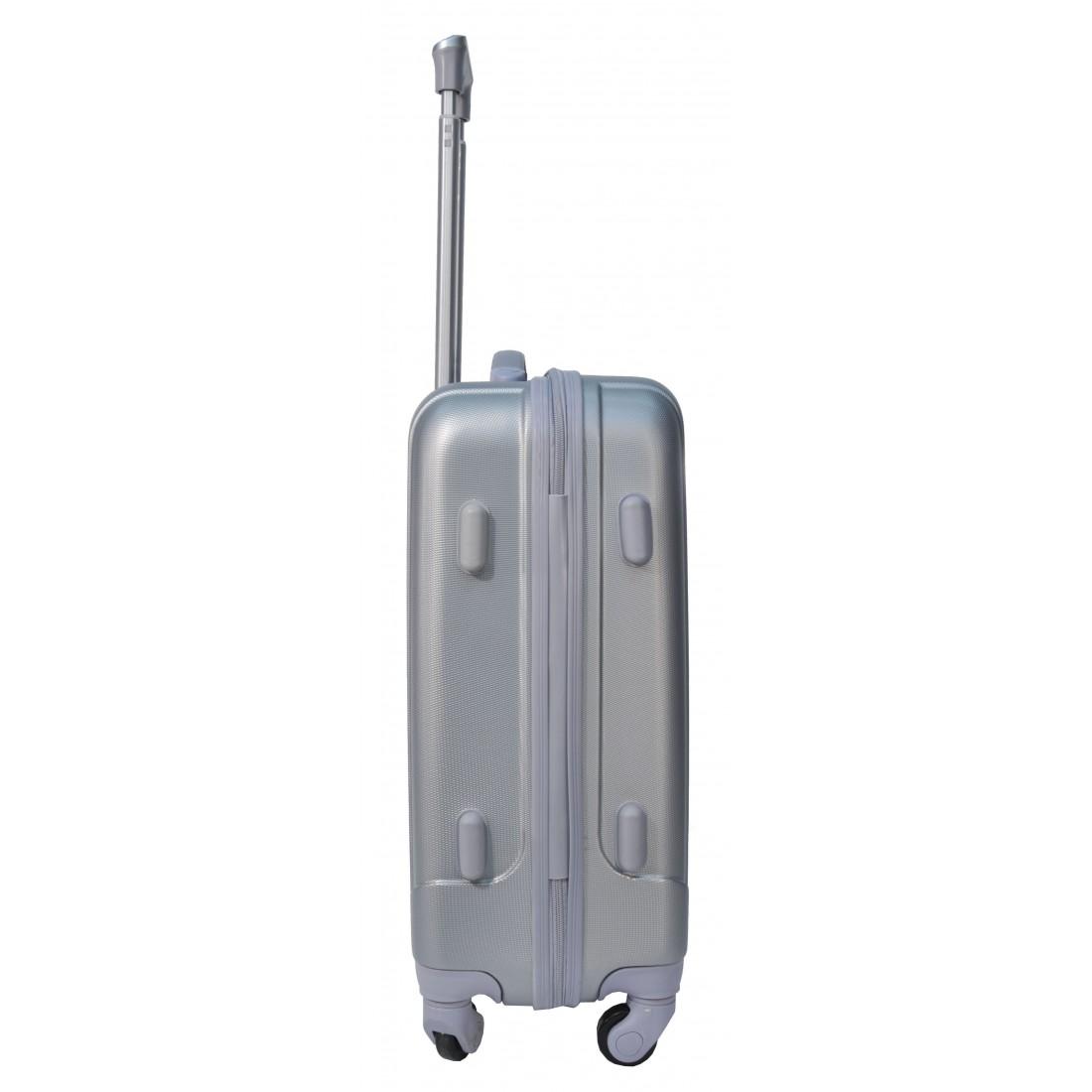 Walizka mała srebrna ABS - plecak-tornister.pl