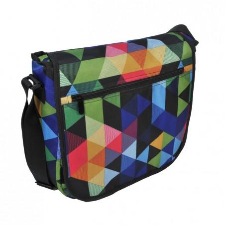 Torba na ramię listonoszka kolorowe trójkąty