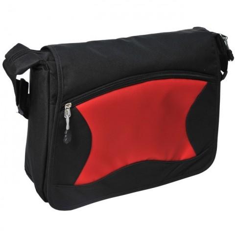Torba na ramię czarno-czerwona listonoszka