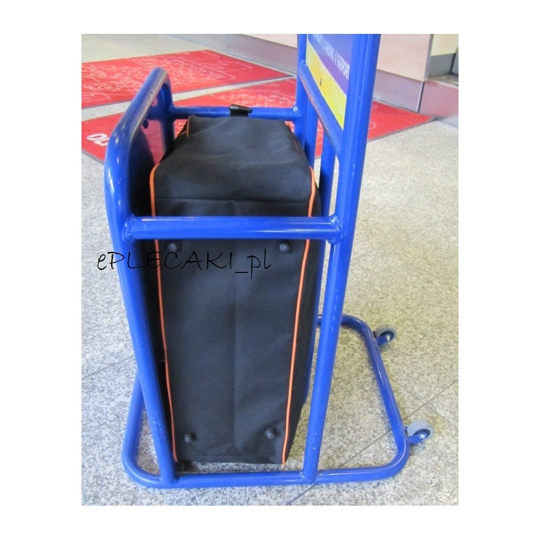 RYANAIR torba - bagaż podręczny - kieszeń na LAPTOP - niebieska lamówka - plecak-tornister.pl