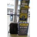 Torba - bagaż podręczny Ryanair 55x40x20cm + kieszeń na leptop - niebieska lamówka
