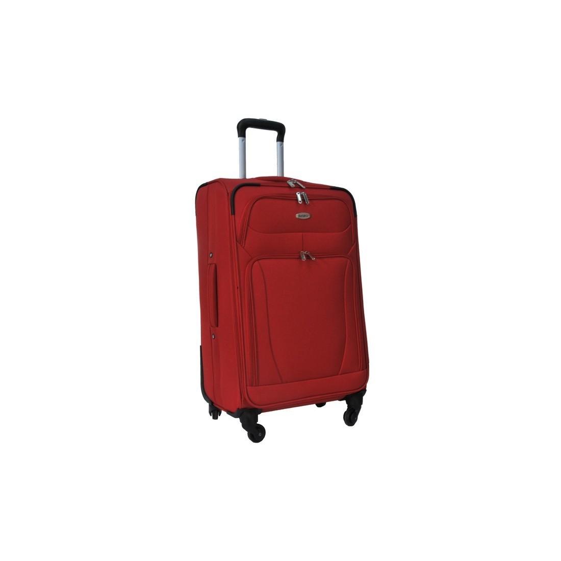 Walizka średnia czerwona Premium - plecak-tornister.pl