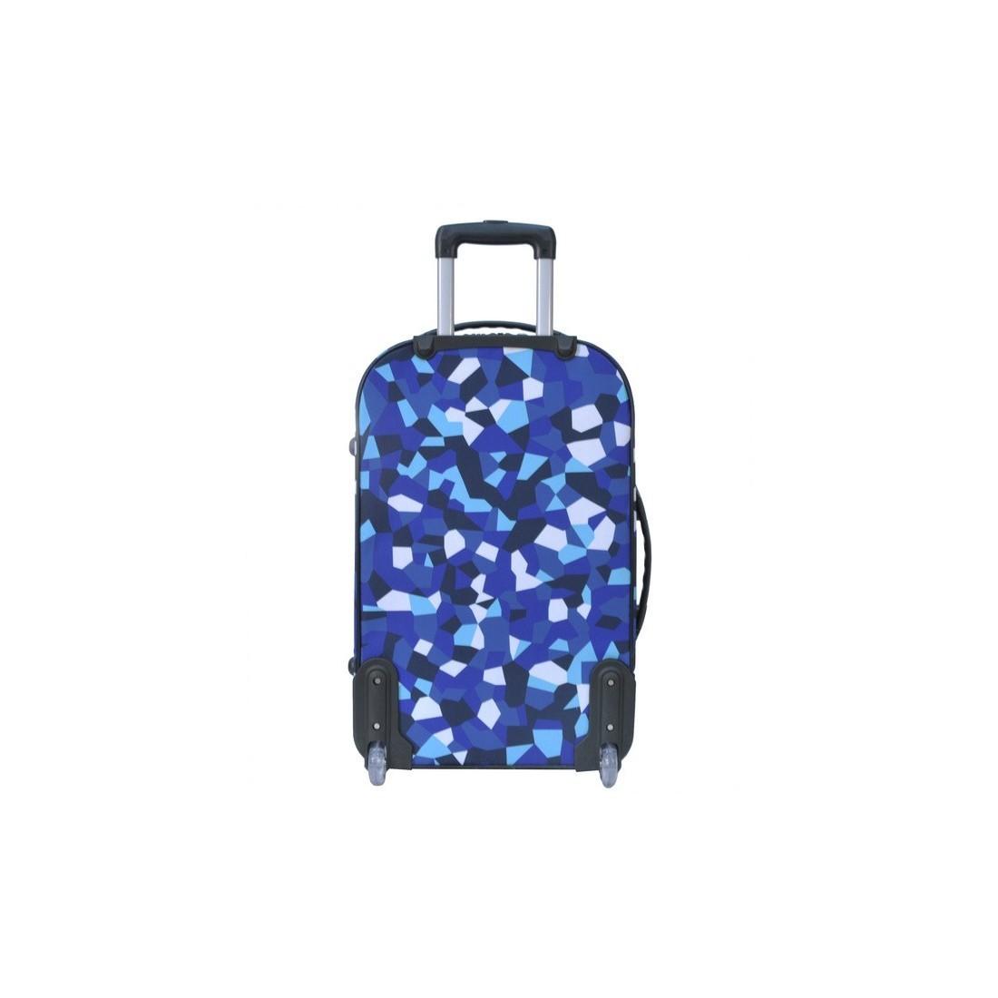Walizka średnia niebieska w figury - plecak-tornister.pl
